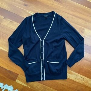 Navy Jcrew Cardigan